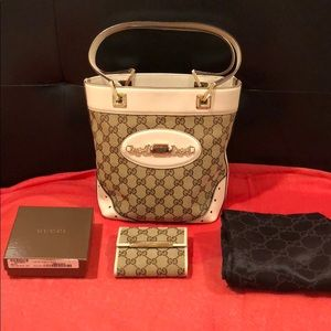 Authentic Gucci Ssima bucket bag & new wallet